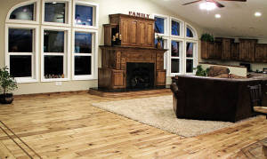 Hand Scraped Chalet Hickory Living Room