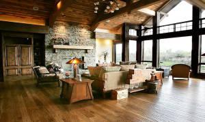 Hand Scraped White Oak Living Room