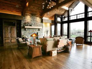 Hand Scraped White Oak Great Room