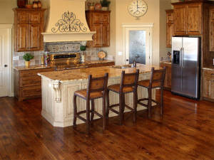 Stained White Oak Kitchen
