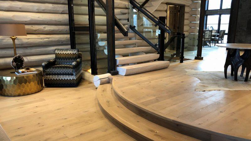 Circle Sawn White Oak Flooring - Alpine Original Grade
